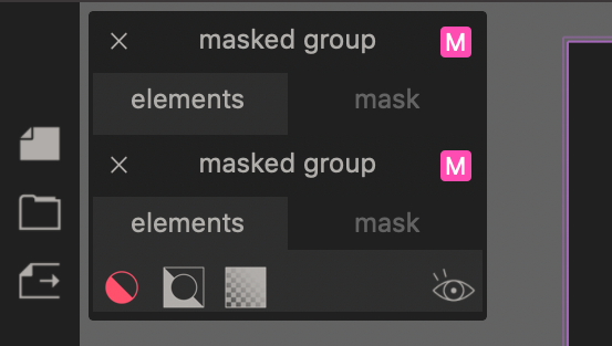masked groups panel